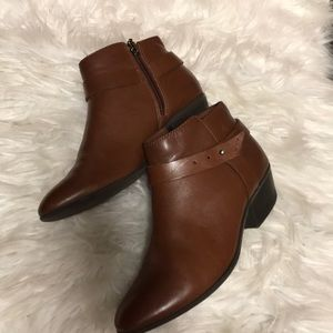 Brown Clarks Ankle Boots